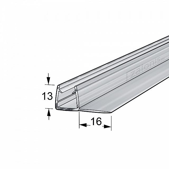 90 DEGREES FIN SHOWER SEAL FOR 8-10mm GLASS